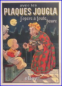 Affiche Ancienne Originale Old Poster Plaques Jougla Appareil Photo Sinox