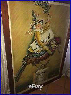 Affiche Ancienne Originale Publicitaire Encadree Tres Bon Etat