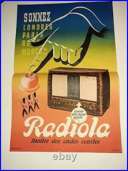 Affiche Ancienne Originale RADIOLA