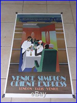 Affiche Ancienne Originale Wagons Lits Le Restaurant Signe Fix Masseau 79