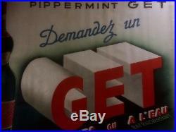 Affiche Ancienne PIPPERMINT GET Original Vintage Poster de 1937 by Leclerc