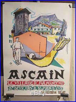 Affiche Ancienne Pays Basque Ascain