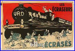 Affiche Ancienne Politique Les Ecraseurs Les Ecrases U. R. D. 1932