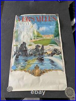 Affiche Ancienne Poster Ancien Versailles Maurice Milliere