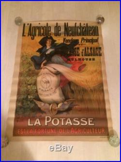 Affiche Ancienne Potasse D Alsace Mulhouse Agricole De Neufchateau Papier Ancien