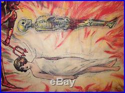 Affiche Ancienne Prestidigitation L Enfer Au British Circus