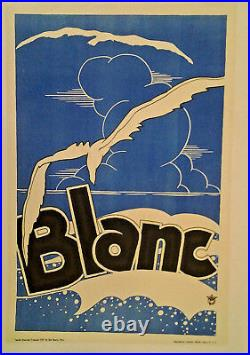 Affiche Ancienne Pub Blanc Mode Vop Paris Mouette