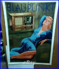 Affiche Ancienne Radio Blaupunkt