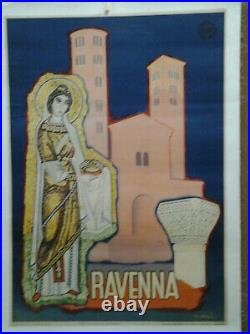 Affiche Ancienne Ravenna Italie Italy