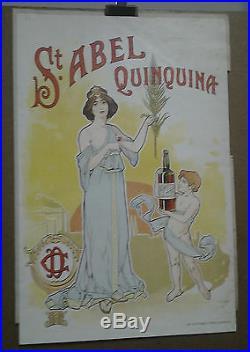 Affiche Ancienne Saint Abel Quinquina Clauzel Sete Herault Cette Art Nouveau