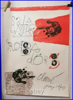 Affiche Ancienne Sala Gaspar Barcelona Antoni Clave 1970