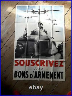 Affiche Ancienne Souscrivez aux BONS d'armement
