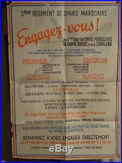 Affiche Ancienne Spahis Maroc Rare
