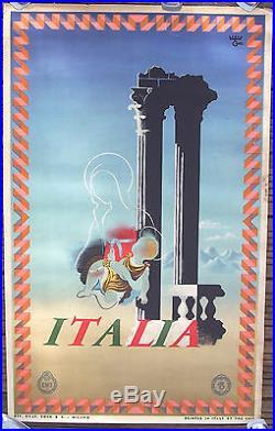 Affiche Ancienne Tourisme Italie Italia Cassandre 1936