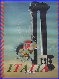 Affiche Ancienne Travel Vintage Poster Tourisme Italie Italia Cassandre 1936