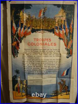 Affiche Ancienne Troupes Coloniales 1923