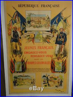 Affiche Ancienne Troupes Coloniales 1929