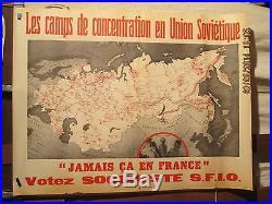 Affiche Ancienne Union Sovietique Camps Concentration