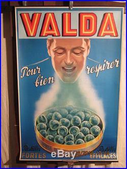 Affiche Ancienne Valda Homme Respirant