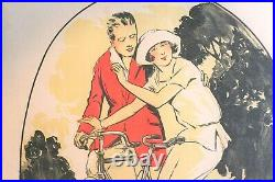 Affiche Ancienne Velo Cycle Tres Sport Belle Epoque Art Deco Annees Folles
