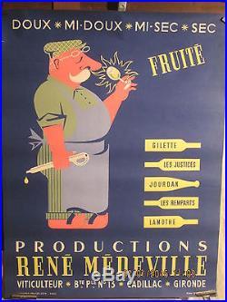 Affiche Ancienne Vigneron Gironde