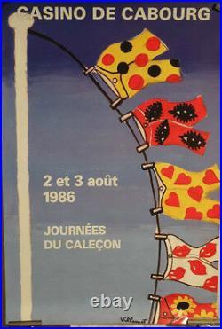 Affiche Ancienne Villemot Cabourg Calecon