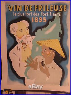 Affiche Ancienne Vin Madagascar Rare