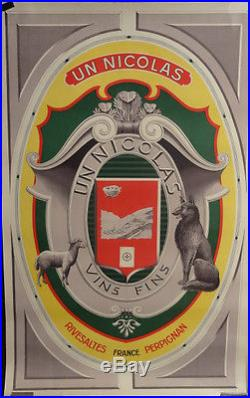 Affiche Ancienne Vin Nicolas Rivesaltes Perpignan