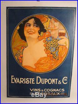 Affiche Ancienne Vins Bordeaux Rare