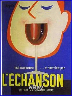 Affiche Ancienne Vins De L'echanson Seguin Whine