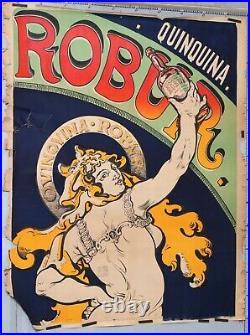 Affiche Ancienne Vintage Drink Poster Quinquina Robur. Circa 1896