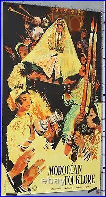 Affiche Ancienne Vintage Poster Mantel 1963 Morocan Folklore Maroc