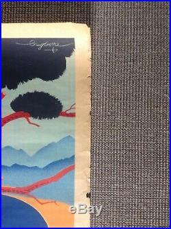 Affiche Ancienne Vintage Sncf 1938 Guy Serre Le Lavandou Son Casino Côte D'azur