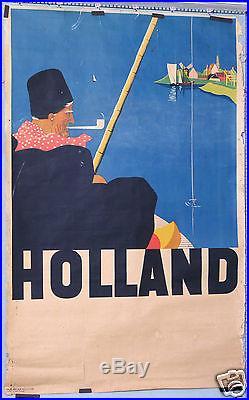 Affiche Ancienne Vintage Travel Poster Holland