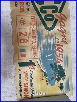 Affiche Ancienne Yacco Montecarlo