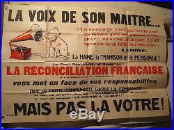 Affiche Anticommuniste Gramophone Lenine