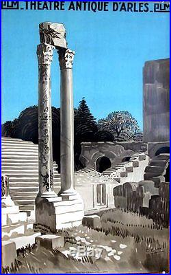 Affiche Antique Theatre Arles Leo Lelee 24x39.5 inches c1930 PLM original