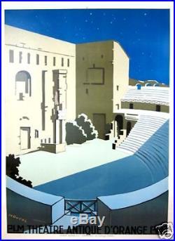 Affiche Antique Theatre Orange de Naurac c1930 PLM AFFICHE ORIGINALE ANCIENNE