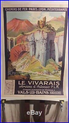 Affiche Ardeche Vivarais Vals Les Bains Julien Lacaze