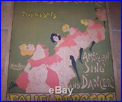 Affiche Art Nouveau Folies Bergere American Sing And Dancer Maurice Biais C 1895