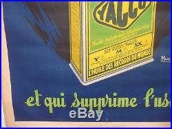 Affiche Authentique, Yacco 1920, Par Macel Bloch, L'huile qui donne des Chevaux