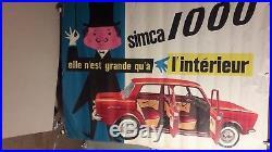 Affiche Auto Simca 1000