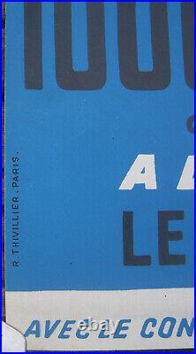 Affiche Automobile 1000 Km Paris Linas Montlhery Maurice Trintignant 1960