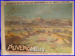Affiche Auvergne Panorama Montagnes