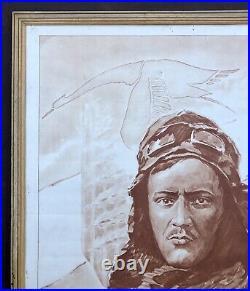 Affiche Aviation Georges Guynemer sur Hispano-Suiza par Paul Lengellé / WW1