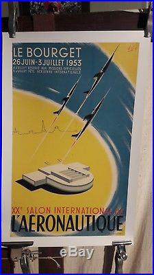 Affiche Aviation Salon Du Bourget Graphique