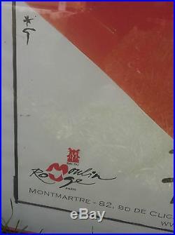 Affiche Bal du Moulin Rouge Féerie encadrée sous plastique