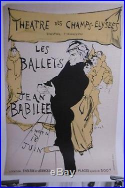 Affiche Ballets Jean Babille Danseurs