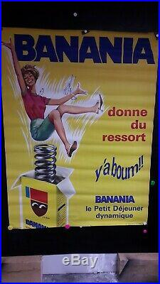 Affiche Banania Femme Dynamique Annees 1960