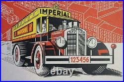 Affiche Biere Imperial Brewing Brussels Pilsner Stout Horse Ale Camion 1930